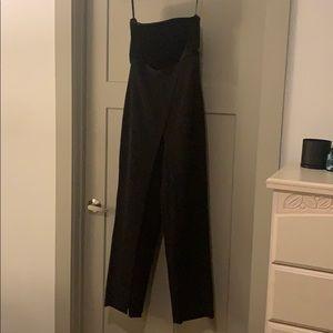 White House Black Market black strapless jumpsuit